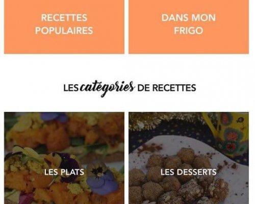 Application Vegg'up Avec Catégories Des Recettes