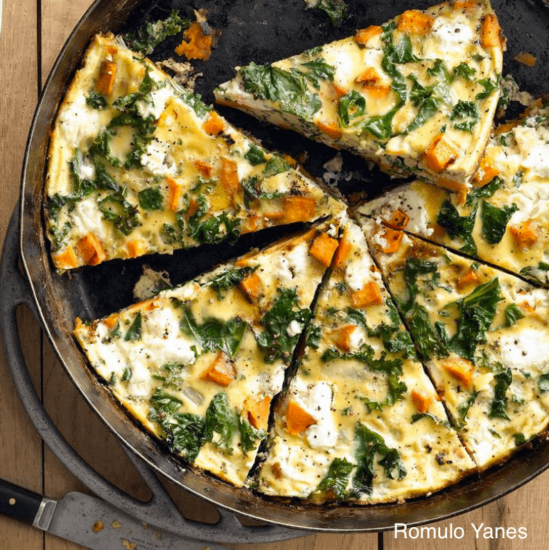 Omelette Au Chou Frisé De Patate Douce
