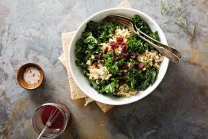 Salade de chou kale et quinoa