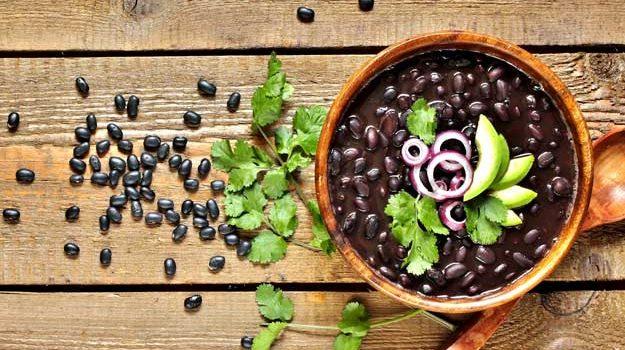 Soupe D'haricots Noirs épicés