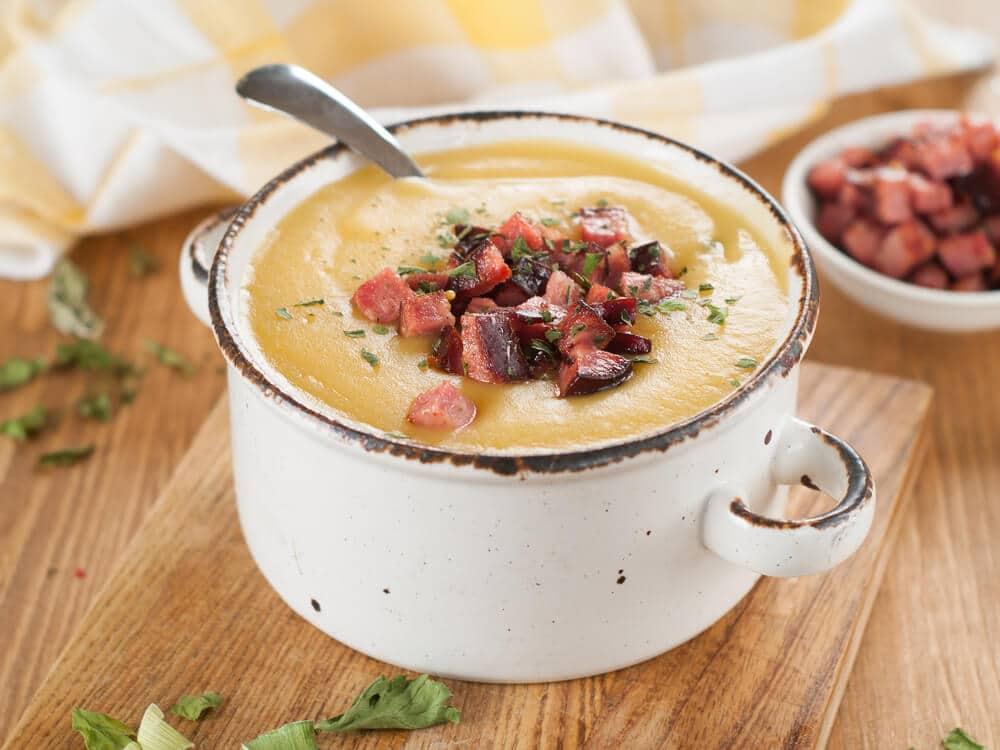 Soupe De Poireaux, Haricots Et Chorizo
