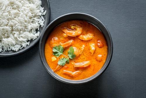 Curry De Poulet Et Crevettes Au Lait De Coco
