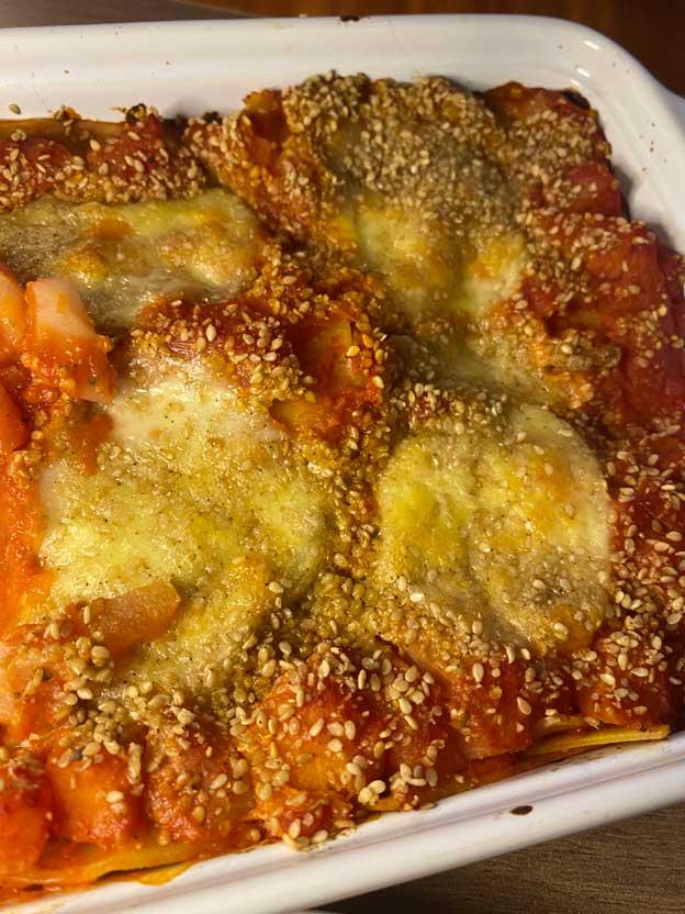 Lasagne aux légumes sans gluten