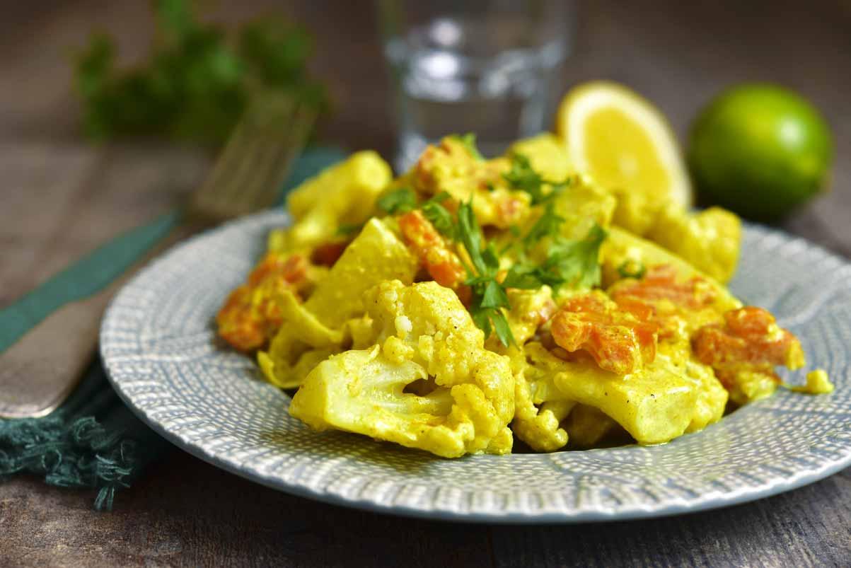 Légumes Au Curry Vert Et Lait De Coco