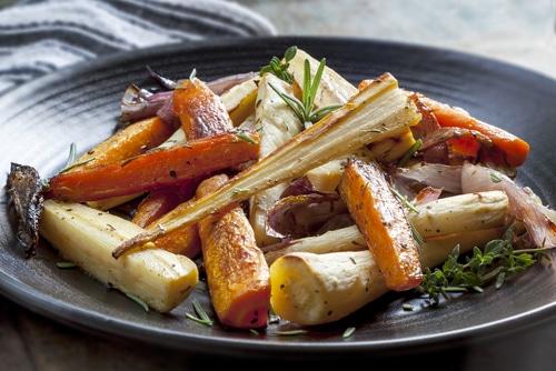 Légumes Rôtis Au Sirop D'érable