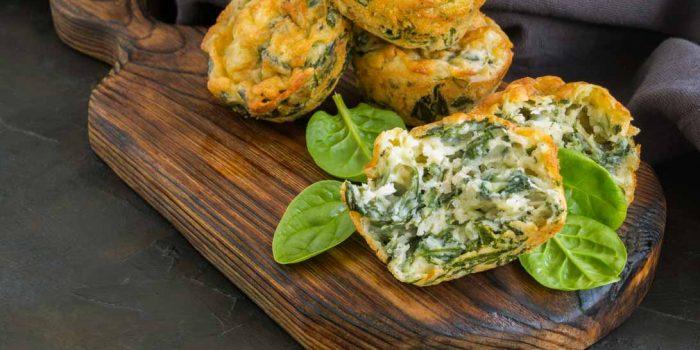 Muffin Epinards Parmesan