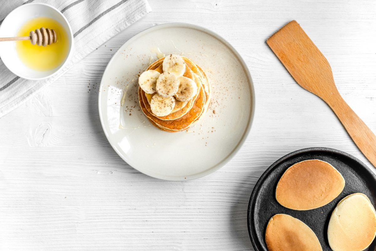 Pancakes Healthy à La Banane Sans Gluten