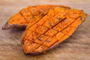 patate douce pour une raclette végétarienne ou raclette healthy