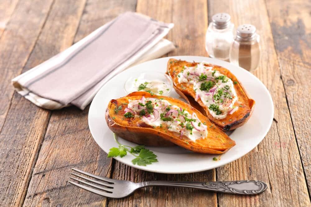 Patate Douce Au Fromage Frais