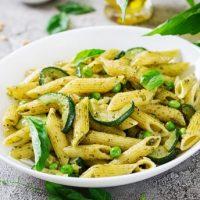Pâtes Au Pesto Et Légumes Verts