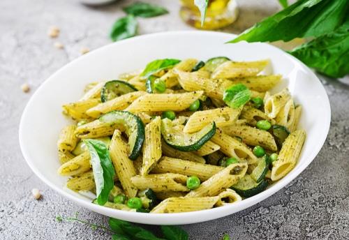 Pates Pesto Legumes Verts