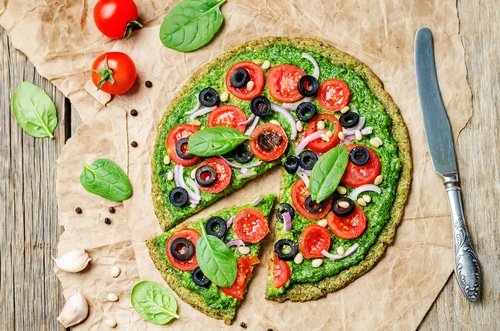 Pizza Healthy à La Pâte De Courgette
