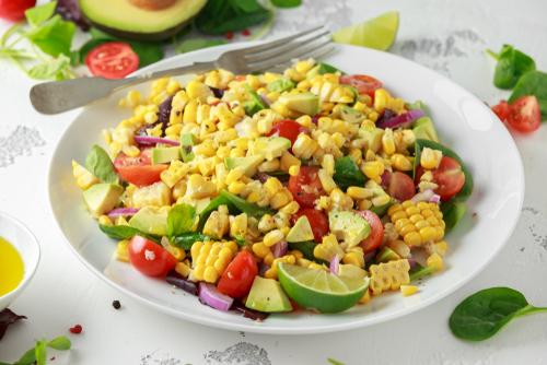 recettes de salades healthy maïs grillé