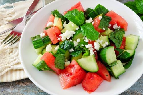 recettes de salades healthy pasteque feta