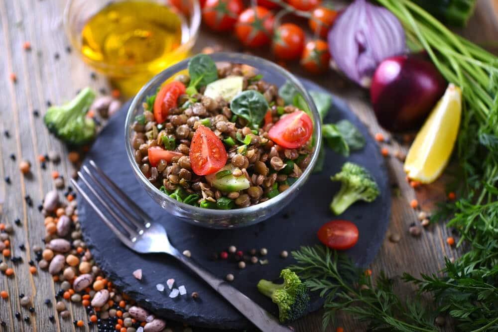 Salade Grecque Aux Lentilles Et Aneth