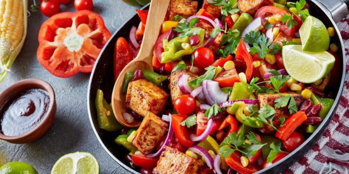 Légumes Au Tofu Sauce Aigre-douce Vegetarienne