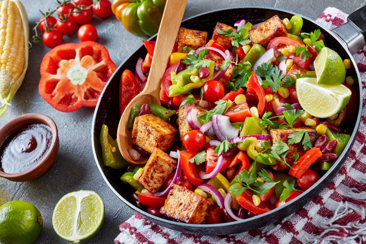 Recette Vegetarienne, Tofu Aux Legumes Sauce Aigre Douce