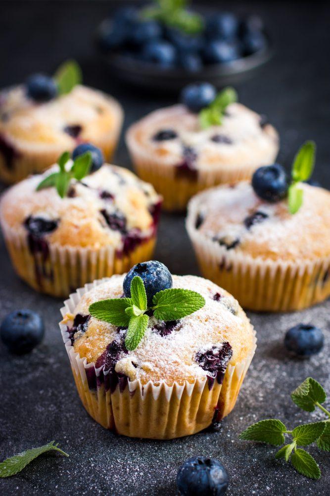 Muffins Au Citron Et Aux Myrtilles Healthy