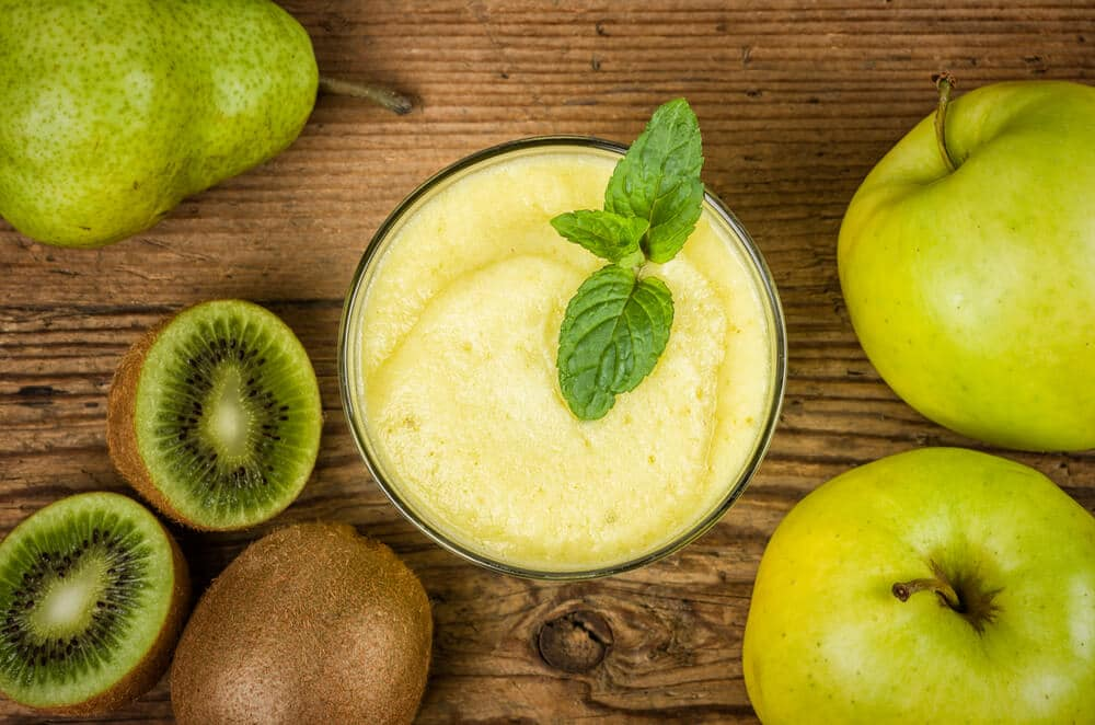 Recette Du Smoothie à La Pomme Et Kiwi