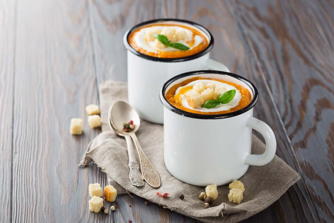 Soupe à La Citrouille Et Au Gingembre
