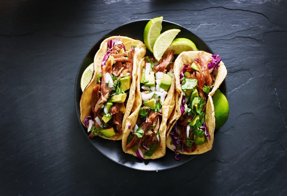 Tacos De Patates Douces à L'avocat