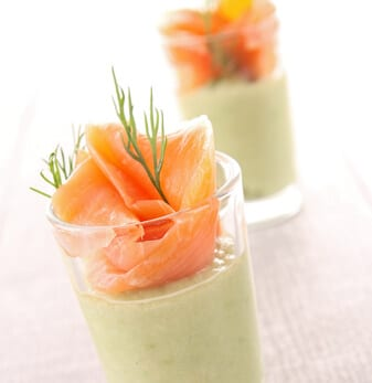 Recette Healthy Verrine Saumon Et Mousse De Concombre