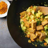 Wok De Légumes Au Curry Et Lait De Coco