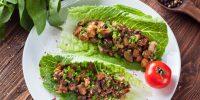 Roulés De Laitue Au Tofu Et Aux Champignons Végétariens